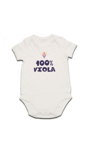 "BODY BABY ""100% VIOLA"" FIORENTINA"