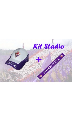 KIT STADIO BERRETTO FIRENZE 1926 E SCIARPA RASO