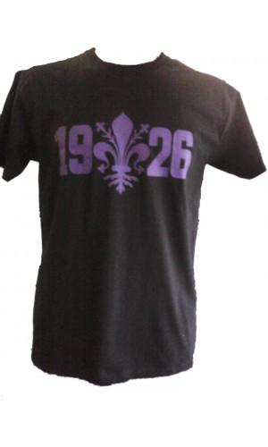 T-SHIRT GIGLIO FIRENZE 1926 NERA