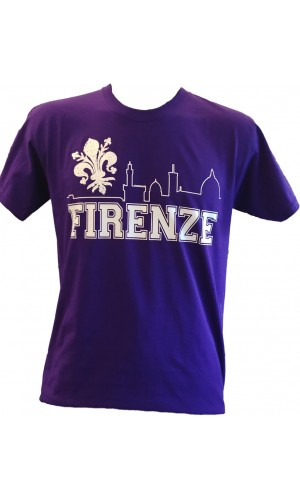 T-SHIRT SKYLINE FIRENZE 1926 VIOLA
