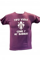 "T-SHIRT JUNIOR ""TIFO VIOLA COME I' MI' BABBO"""