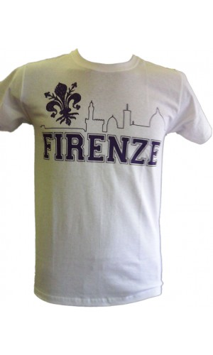 T-SHIRT SKYLINE FIRENZE 1926 GRIGIA